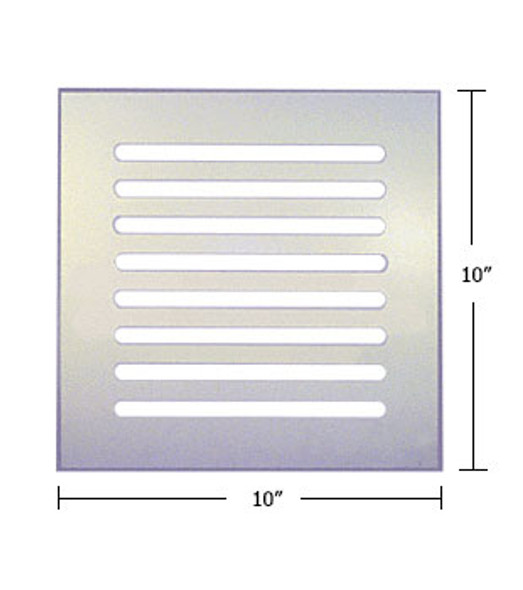 "Clear Acrylic Mirror Flat Grille 10"" X 10"""