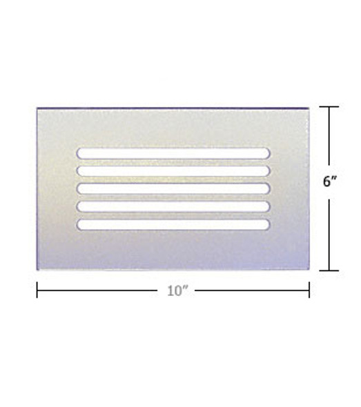 """Clear Acrylic Mirror Flat Grille 10"""" X 6"""""""