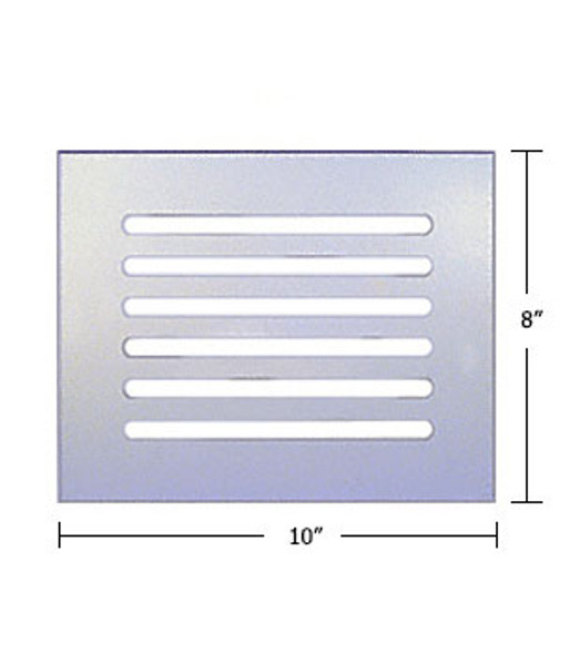 """Clear Acrylic Mirror Flat Grille 10"""" X 8"""""""