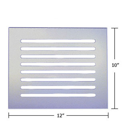 "Clear Acrylic Mirror Flat Grille 12"" X 10"""