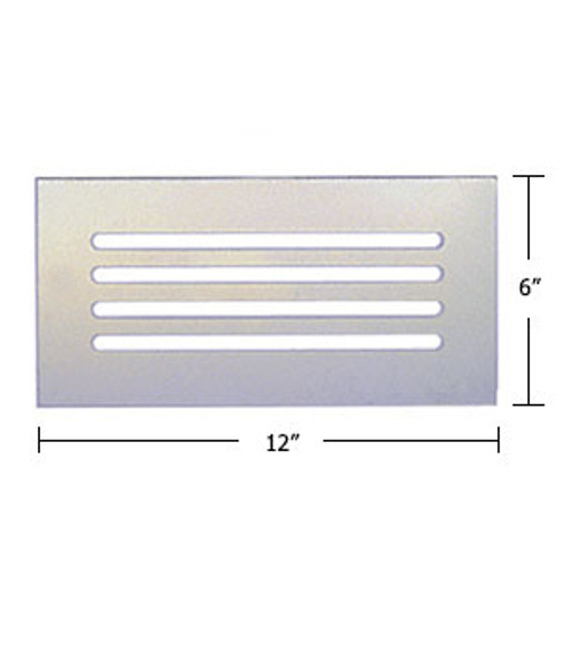 """Clear Acrylic Mirror Flat Grille 12"""" X 6"""""""