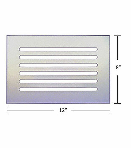 "Clear Acrylic Mirror Flat Grille 12"" X 8"""