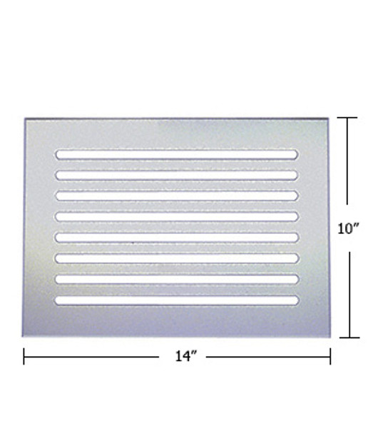 "Clear Acrylic Mirror Flat Grille 14"" X 10"""