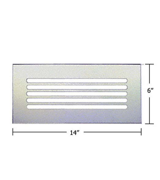"""Clear Acrylic Mirror Flat Grille 14"""" X 6"""""""