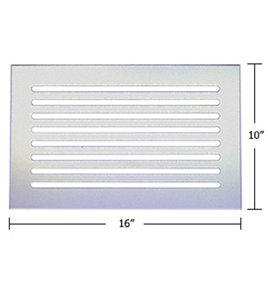 """Clear Acrylic Mirror Flat Grille 16"""" X 10"""""""