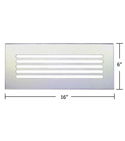 "Clear Acrylic Mirror Flat Grille 16"" X 6"""
