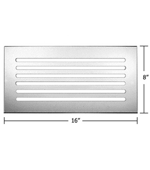"""Clear Acrylic Mirror Flat Grille 16"""" X 8"""""""
