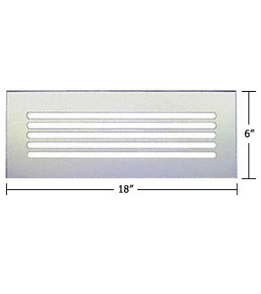 "Clear Acrylic Mirror Flat Grille 18"" X 6"""
