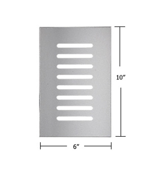 """Clear Acrylic Mirror Flat Grille 6"""" X 10"""""""