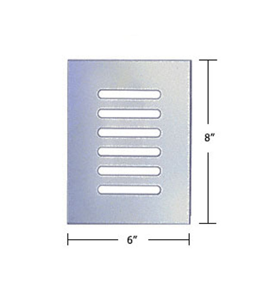 """Clear Acrylic Mirror Flat Grille 6"""" X 8"""""""