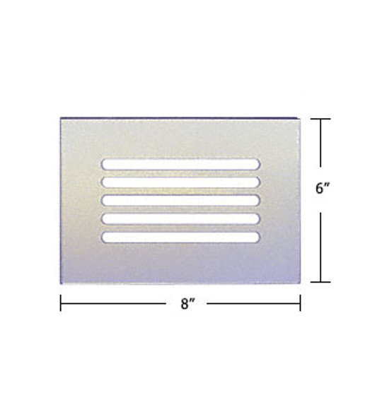 """Clear Acrylic Mirror Flat Grille 8"""" X 6"""""""