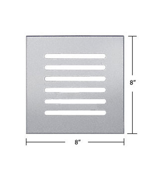 """Clear Acrylic Mirror Flat Grille 8"""" X 8"""""""