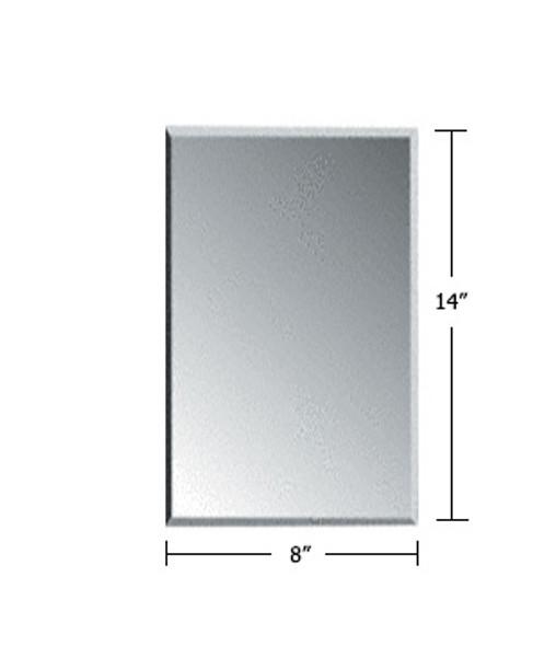 "Clear Acrylic Mirror Flat Grille Blank 8"" X 14"""