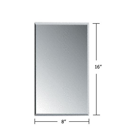 "Clear Acrylic Mirror Flat Grille Blank 8"" X 16"""