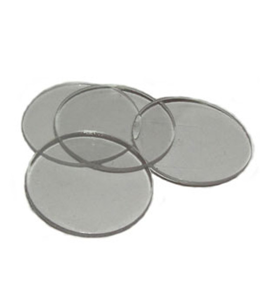 Clear Desk Buttons For Glass Tops - 100 Pack