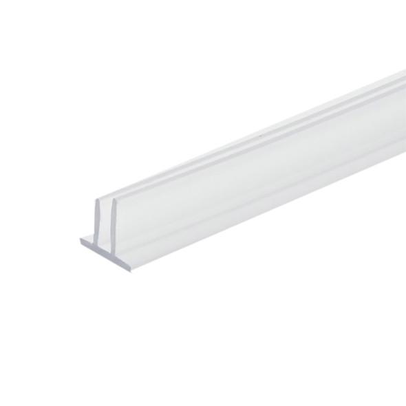 "Clear Double Fin Shower Door Seal -98"" Long"