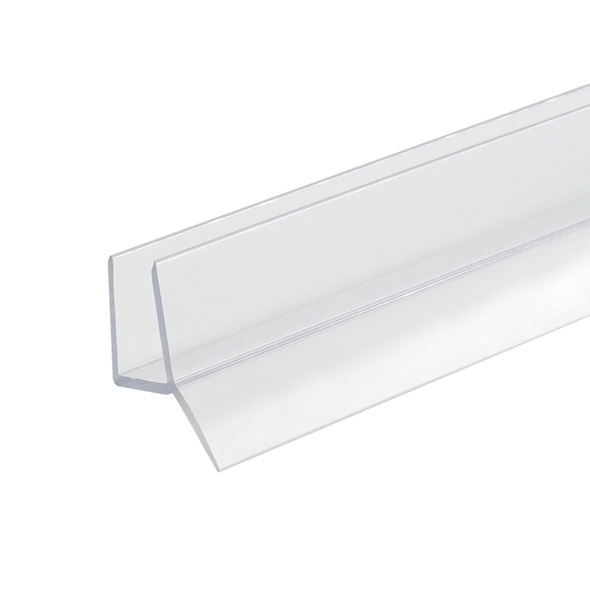 """Clear Shower Door Bottom Rail and Wipe Seal For 3/8"""" Glass- 95"""" Long"""
