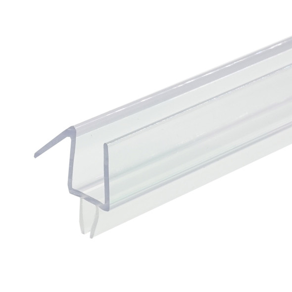 """Clear Shower Door Drip Rail and Wipe Seal For 3/8"""" Glass- 48"""" Long"""