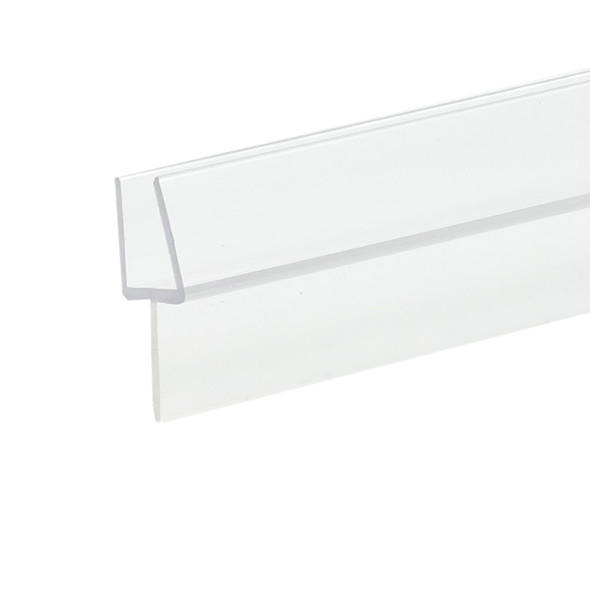 """Clear Shower Door Rail and Wipe Seal For 3/8"""" Glass- 48"""" Long"""