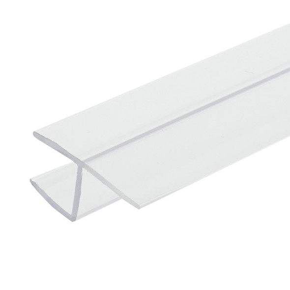 """Clear Y Inline Shower Door Or Panel Seal For 3/8"""" Glass - 95"""" Long"""