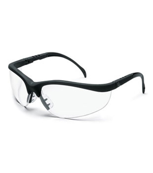 Crews Klondike Safety Glasses with Black Frame and Clear Lens
