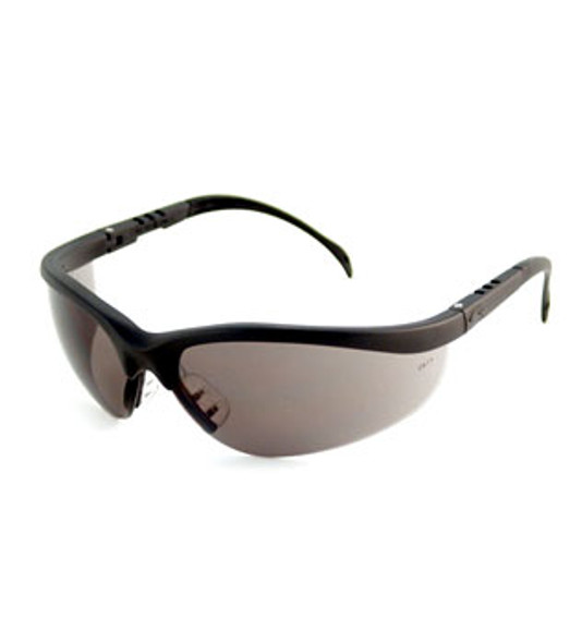 Crews Klondike Safety Glasses with Black Frame and Grey Lens