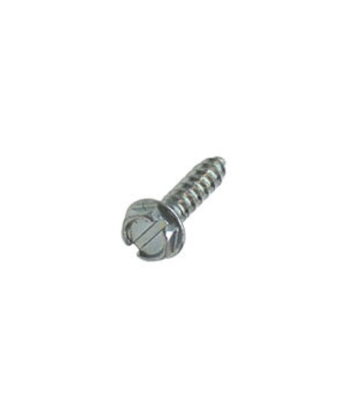 """#10 X 3/4"""" Hex Washer Head Slotted Sheet Metal Screws - 100 Pack"""