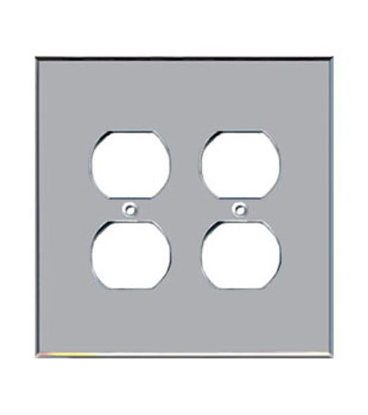 Custom Jumbo Double Duplex Acrylic Mirror Outlet Cover Plate