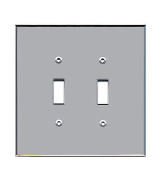Custom Jumbo Double Toggle Acrylic Mirror Switch Cover Plate