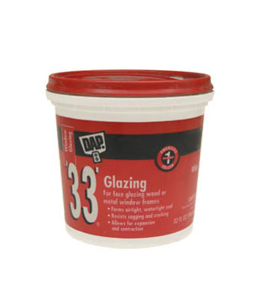 DAP 33 White Window Glazing Putty Compound - Quart