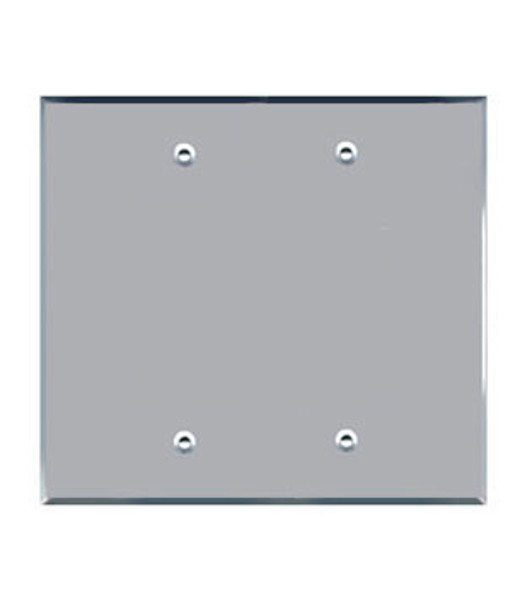 Double Blank Acrylic Mirror Outlet Cover Plate