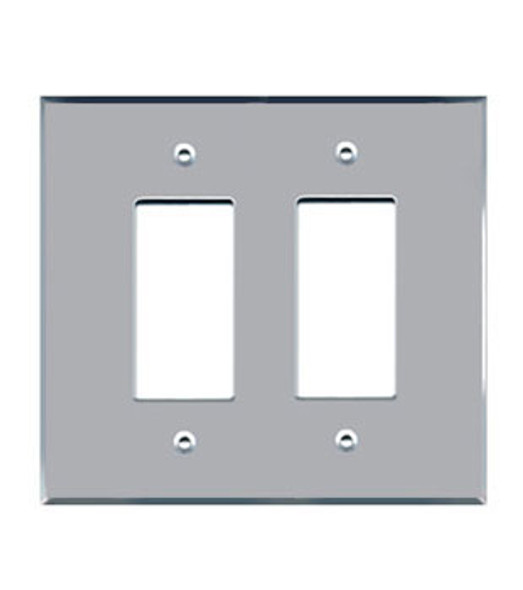 Double Decora Acrylic Mirror Switch Cover Plate