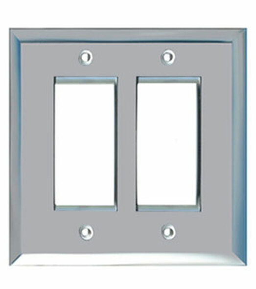 Double Decora Glass Mirror Switch Cover Plate