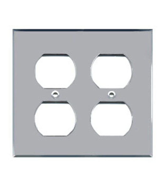 Double Duplex Acrylic Mirror Outlet Cover Plate