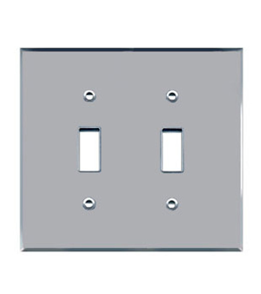 Double Toggle Acrylic Mirror Outlet Cover Plate