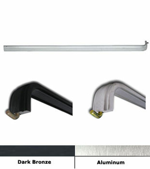 "Extruded Aluminum Push Bar with J Hook for 36"" Doors"