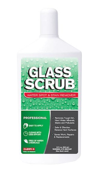 Glass Scrub Professional Stain Remover and Restorer 16oz.