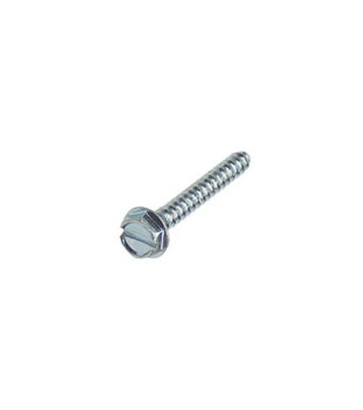 """#6 X 1"""" Hex Washer Head Slotted Sheet Metal Screws - 100 Pack"""
