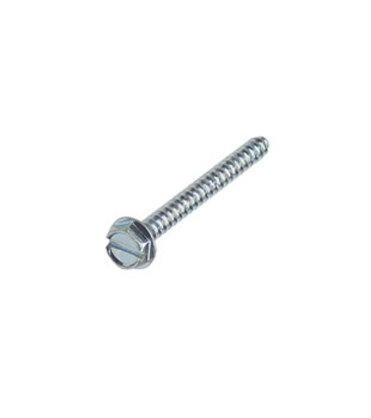 """#6 X 1-1/2"""" Hex Washer Head Slotted Sheet Metal Screws - 100 Pack"""