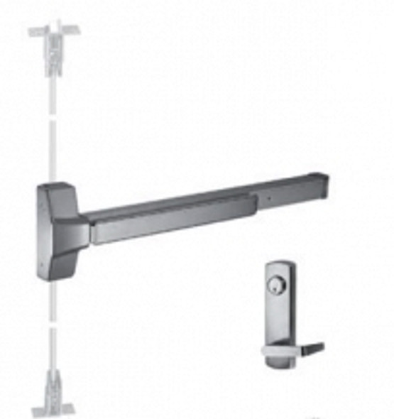 """Grade 1 Fire Rated CVR Panic Exit Device /Locking Lever Trim US32D 48"""""""