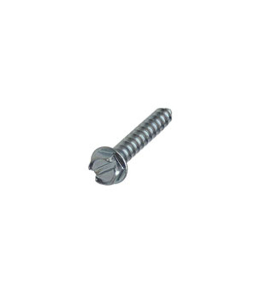 """#8 X 1"""" Hex Washer Head Slotted Sheet Metal Screws - 100 Pack"""