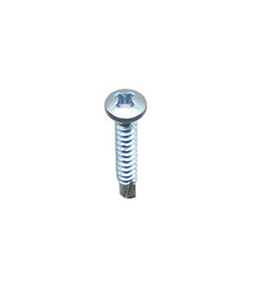 """#8 X 1"""" Self Tapping/Drilling Pan Head Phillips Screws - 100 Pack"""