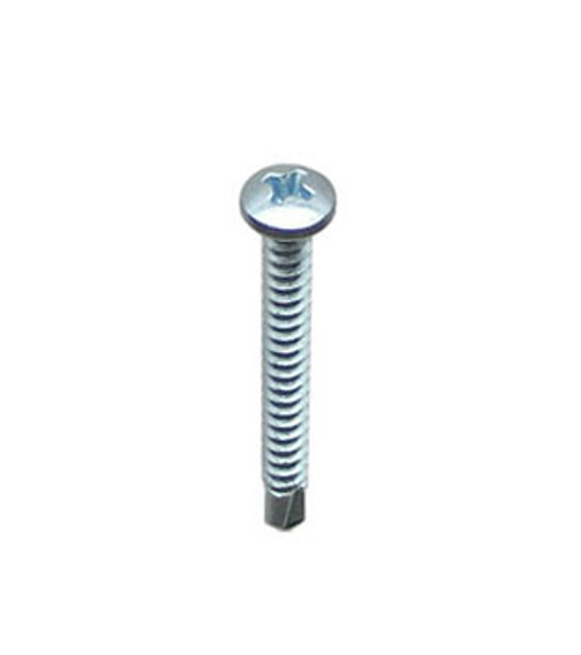 """#8 X 1-1/2"""" Self Tapping/Drilling Pan Head Phillips Screws - 100 Pack"""