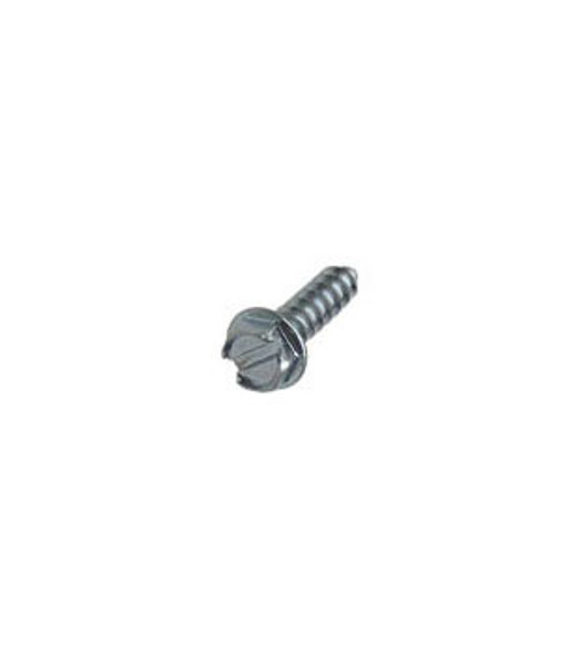"""#8 X 1/2"""" Hex Washer Head Slotted Sheet Metal Screws - 100 Pack"""