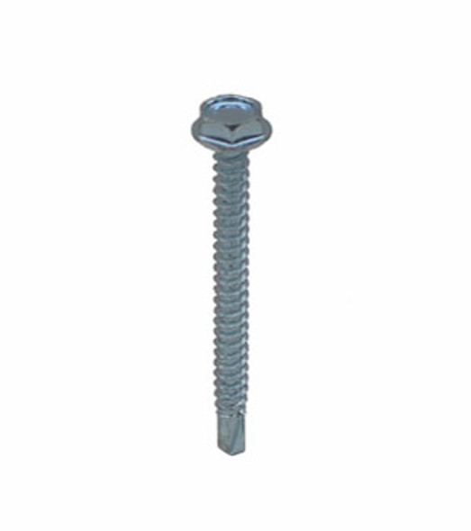 "#8 X 2"" Self Tapping/Drilling Hex Washer Head Screws - 100 Pack"