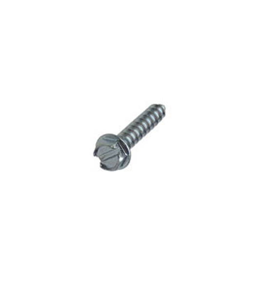 """#8 X 3/4"""" Hex Washer Head Slotted Sheet Metal Screws - 100 Pack"""