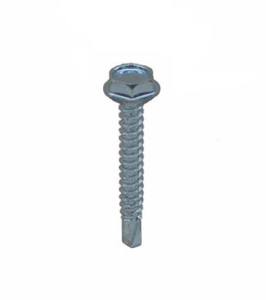 "#8 X 3/4"" Self Tapping/Drilling Hex Washer Head Screws - 100 Pack"