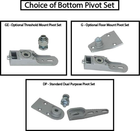 International 202 ADA 5lb Concealed OH Closer Kit - Side Arm - 90 HO