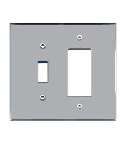 1 Decora + 1 Toggle Acrylic Mirror Outlet Cover Plate
