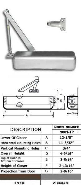 International 9001-TP Adjustable ADA Grade 1 Surface Mount Closer